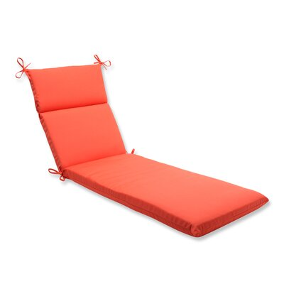 Canvas Outdoor Chaise Lounge Cushion Fabric: Melon