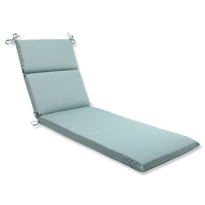 Canvas Outdoor Chaise Lounge Cushion Fabric: Spa