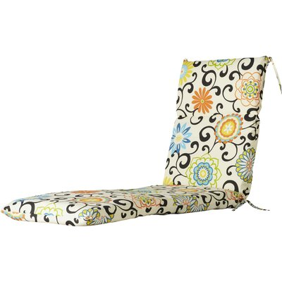 Pom Pom Outdoor Chaise Lounge Cushion
