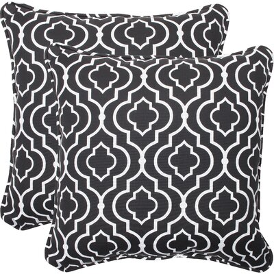 Starlet Indoor Outdoor Throw Pillow Fabric: Night