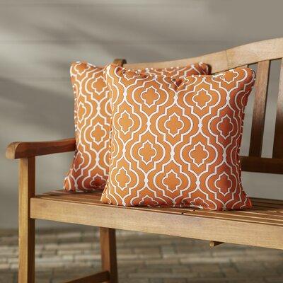 Starlet Indoor Outdoor Throw Pillow Fabric: Mandarin