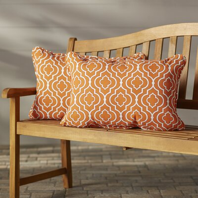 Starlet Outdoor Lumbar Pillow Fabric: Mandarin, Size: 11.5 x 18.5