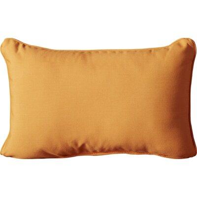 Canvas Outdoor Sunbrella Lumbar Pillow Fabric: Tangerine