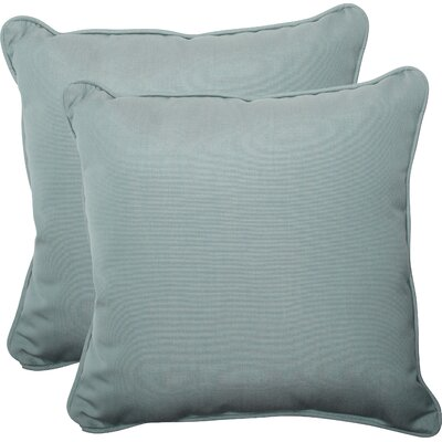 Canvas Outdoor Throw Pillow Fabric: Spa
