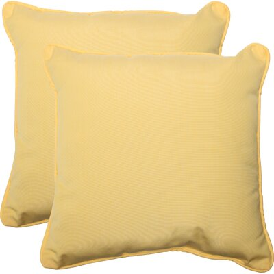 Canvas Indoor/Outdoor Sunbrella Throw Pillow Fabric: Buttercup