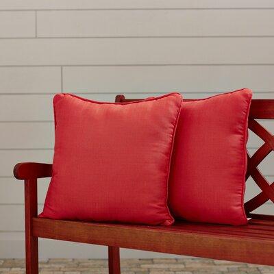 Canvas Indoor/Outdoor Sunbrella Throw Pillow Fabric: Melon