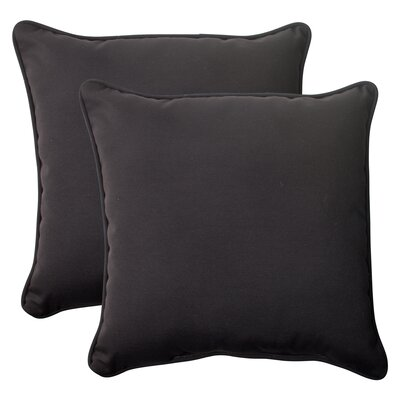 Fresco Corded Outdoor Throw Pillow Color: Black