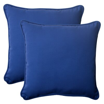 Fresco Corded Outdoor Throw Pillow Color: Navy