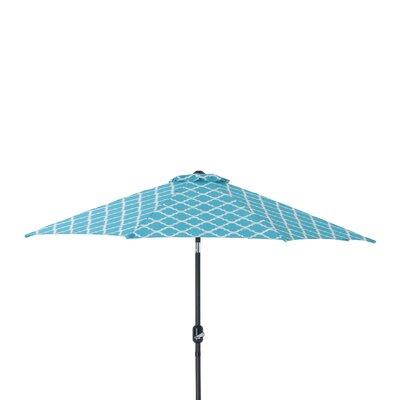 9 Kobette Market Umbrella Color: Teal