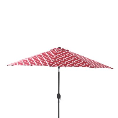 9 Kobette Market Umbrella Color: Red