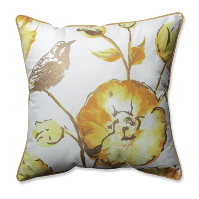 Olivia Throw Pillow Color: Yellow