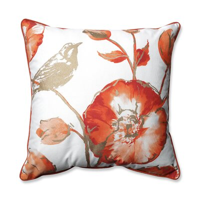 Olivia Throw Pillow Color: Rust