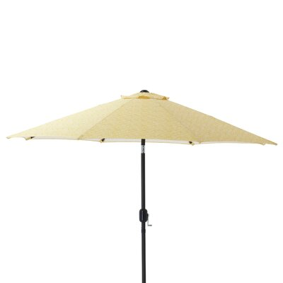 9 Herringbone Patio Market Umbrella Fabric: Yellow