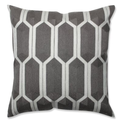 Graphic Detail Throw Pillow Color: Iron