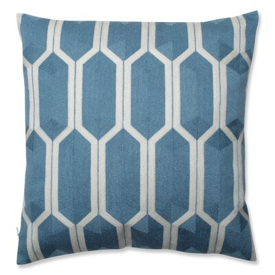 Graphic Detail Throw Pillow Color: Cerulean