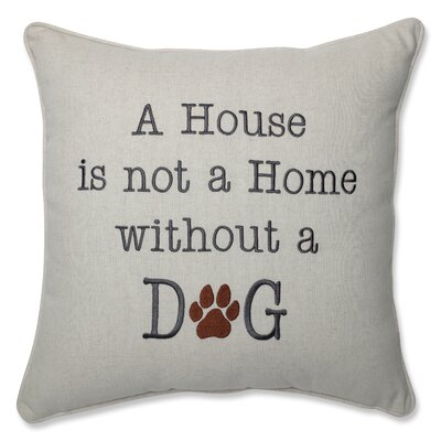 A House Is Not A Home Natural Throw Pillow
