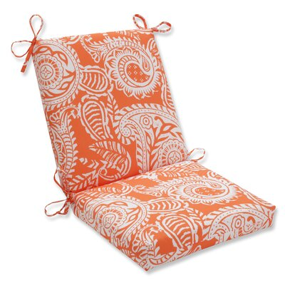 Pillow Perfect Outdoor / Indoor Addie Terra Cotta Squared Corners Chair Cushion