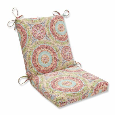 Delancey Lounge Chair Cushion Fabric: Pink/Orange