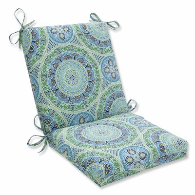 Delancey Lounge Chair Cushion Fabric: Blue/Green