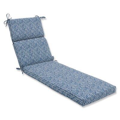 Herringbone Chaise Lounge Cushion Fabric: Blue