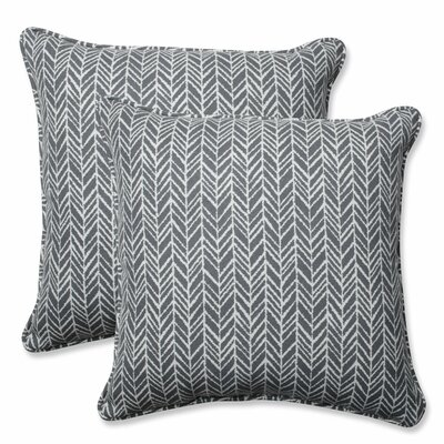 Herringbone Indoor/Outdoor Throw Pillow Color: Slate