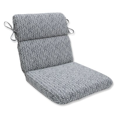 Herringbone Chaise Lounge Cushion Fabric: Slate