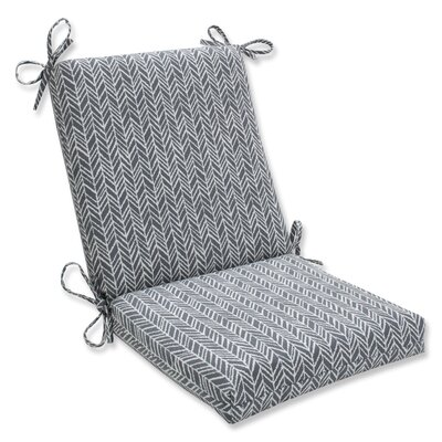 Herringbone Dining Chair Cushion Fabric: Slate