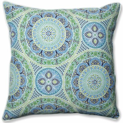 Delancey Jubilee Indoor/Outdoor Floor Pillow Fabric: Blue/Green