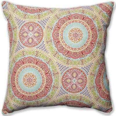 Delancey Jubilee Indoor/Outdoor Floor Pillow Fabric: Pink/Orange