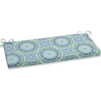 Delancey Jubilee Bench Cushion Fabric: Blue/Green