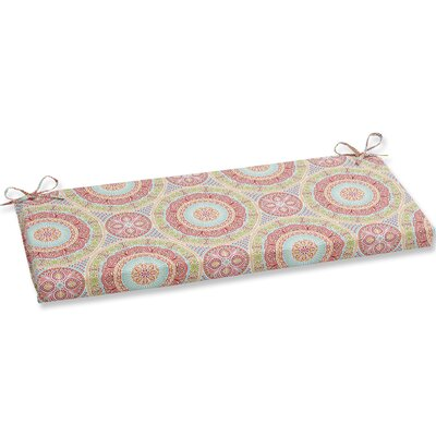Delancey Jubilee Bench Cushion Fabric: Pink/Orange