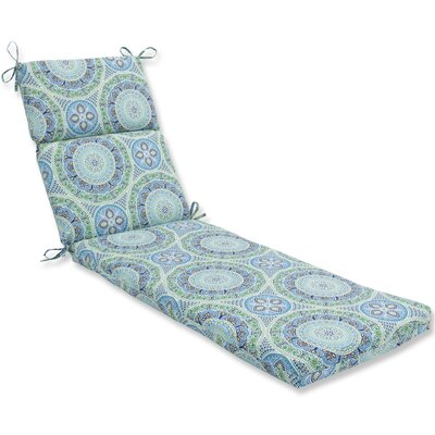 Delancey Jubilee Chaise Lounge Cushion Fabric: Blue/Green