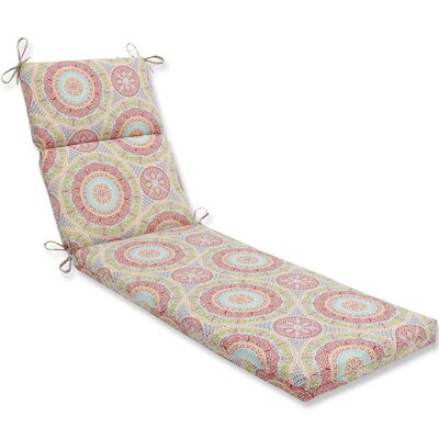 Delancey Jubilee Chaise Lounge Cushion Fabric: Pink/Orange