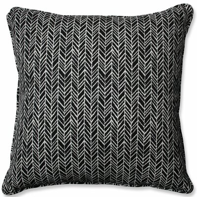 Herringbone Indoor/Outdoor Floor Pillow Color: Black