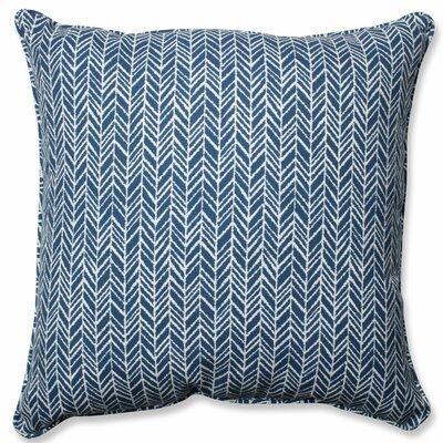 Herringbone Indoor/Outdoor Floor Pillow Color: Blue