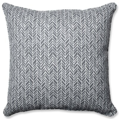 Herringbone Indoor/Outdoor Floor Pillow Color: Slate