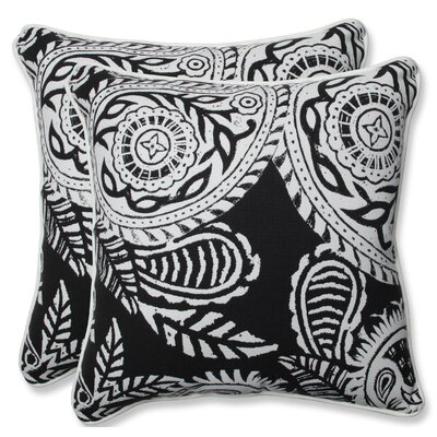 Addie Indoor/Outdoor Throw Pillow Color: Black