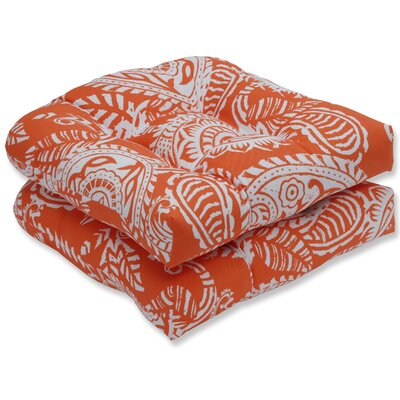 Addie Rocking Chair Cushion Fabric: Orange