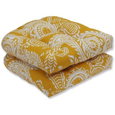 Addie Rocking Chair Cushion Fabric: Yellow