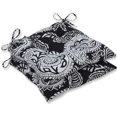 Addie Dining Chair Cushion Fabric: Black