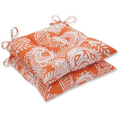 Addie Dining Chair Cushion Fabric: Orange