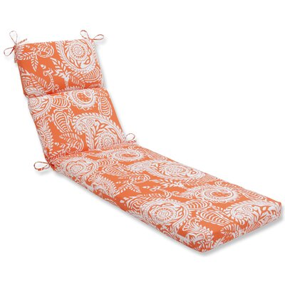Addie Chaise Lounge Cushion Fabric: Orange
