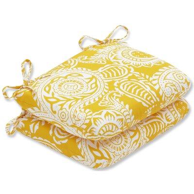 Addie Barstool Cushion Fabric: Yellow