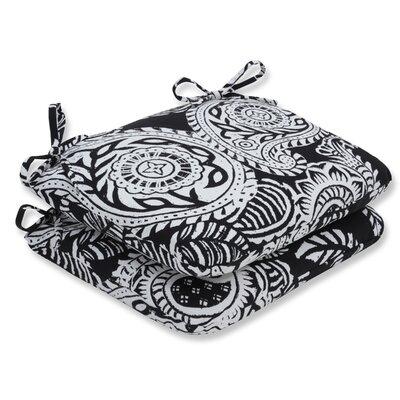 Addie Barstool Cushion Fabric: Black
