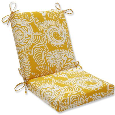 Addie Dining Chair Cushion Fabric: Yellow