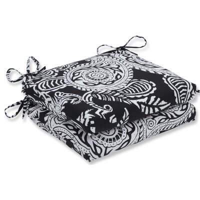 Addie Barstool Cushion Fabric: Black