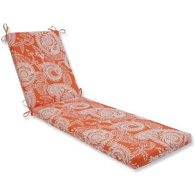 Addie Chaise Lounge Cushion Fabric: Orange