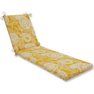 Addie Chaise Lounge Cushion Fabric: Yellow