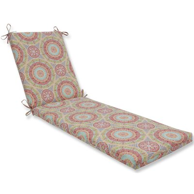 Delancey Chaise Lounge Cushion Fabric: Pink/Orange