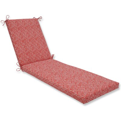 Herringbone Chaise Lounge Cushion Fabric: Tomato